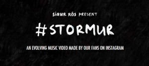 "sigur rós開設歌迷可以自行在instagram上製作""Stormur""MV的網站"